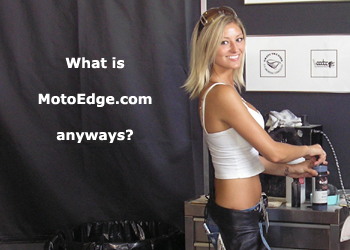 MotoEdge motorcycle girl